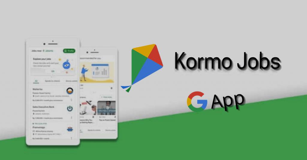 Kormo Jobs Google App in Hindi